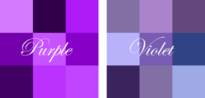 People Say That A Picture Is Worth Thousand Words So Let S Take Look At The Two Colors In Comparison There Are Various Shades Of Purple And Violet